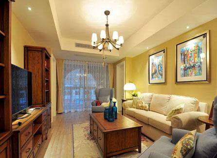 三室两厅美式装修效果图