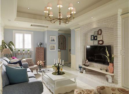 现代三居室美式装修效果图