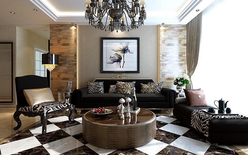 两室一厅的美式装修效果图