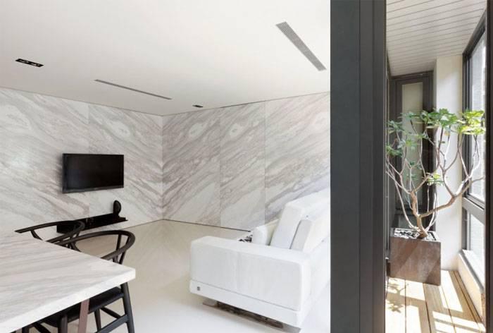 超简约客厅贝博国际在线效果图,小户型装出下空间