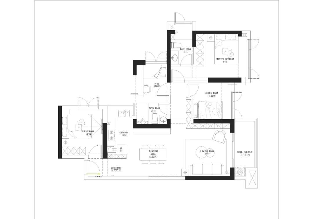 89�O改出4室2厅,空间榨干术超硬核